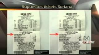 Exhiben presunto ticket de compra en Soriana con leyenda  Beneficios PRI