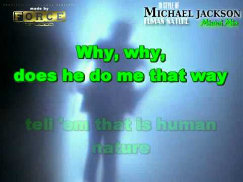 Michael Jackson - Human Nature Miami Mix - Karaoke