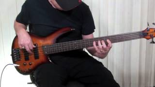ibanez 375f fretless 5 string bass w flatwounds