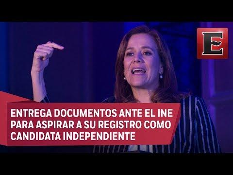 Margarita Zavala registra ante el INE su candidatura independiente