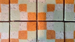 Making and Cutting Checkerboard Soap