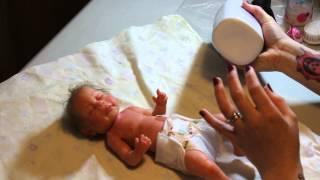 **full body silicone preemie girl** Livia bath part 1