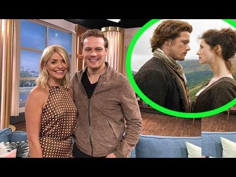 Holly Willoughby gets very giddy as interviewed the star of her favourite show Outlander Sam Heughan