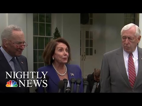 Democrats Walk Out Of Tense White House Meeting After Trump 'Meltdown' | NBC Nightly News