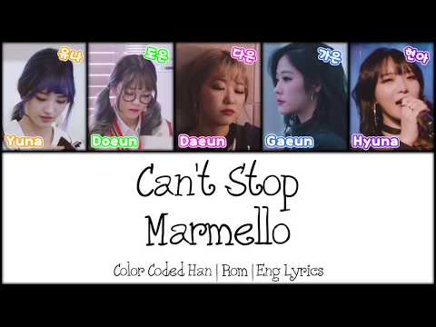 Marmello (마르멜로) - Can't Stop [Color Coded Han|Rom|Eng Lyrics]