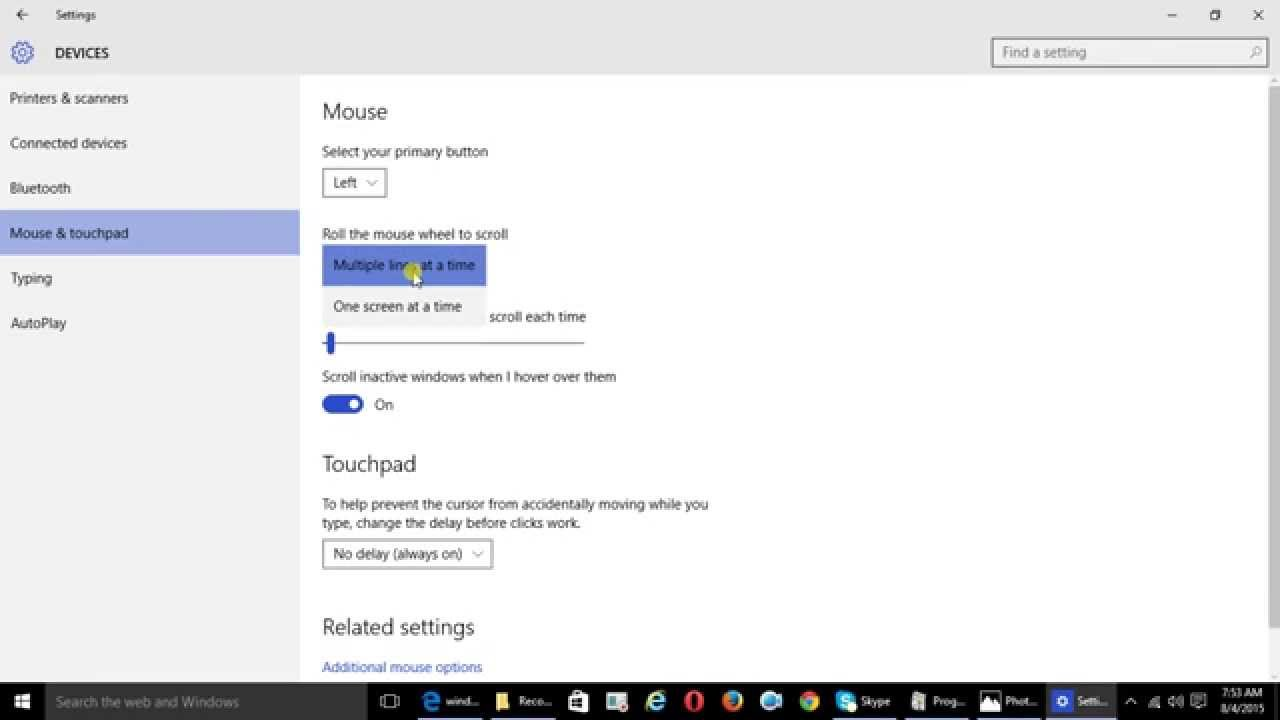 How to change the mouse scroll speed in windows 10