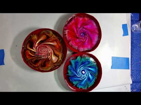 001   Resin Coasters with Alcohol Ink Petri Dish Style