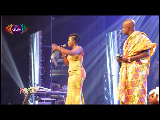 The majestic entrance of the hosts of MOGO 2019 - Kojo Boateng & Frema Adunyame