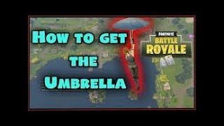| HOW TO GET THE SNOWFLAKE UMBRELLA!| Fortnite Battle Royale|