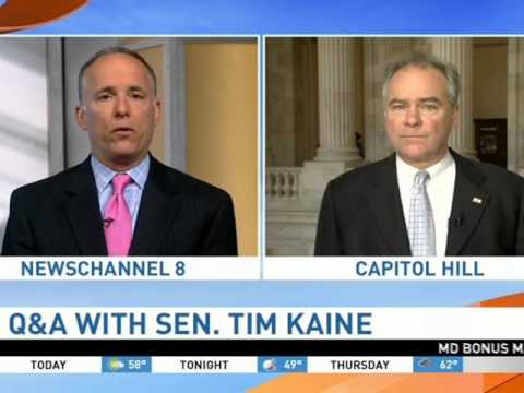 NewsChannel 8: Kaine Discusses Iran Nuclear Deal Implementation & SCOTUS Nomination Battle