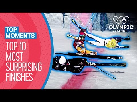 Top 10 Surprise Finishes of All Time at the Winter Olympics | Top Moments