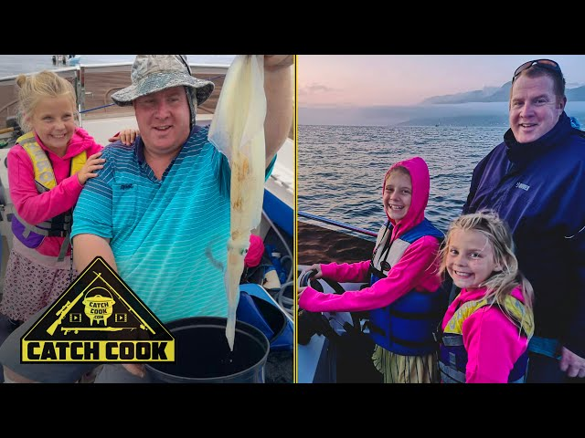 Squid fishing with the whole family - catch cook - False Bay, South Africa