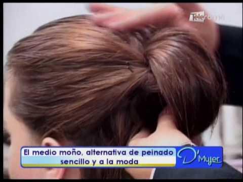 El Medio Mono Alternativa De Peinado Sencillo Y A La Moda