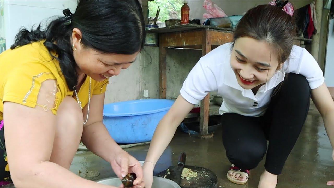 Nồi đồng nấu ốc, nồi đất nấu ếch - Ốc canh gừng xả