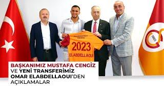 Başkanımız Mustafa Cengiz ve yeni transferimiz Omar Elabdellaoui'den açıklamalar