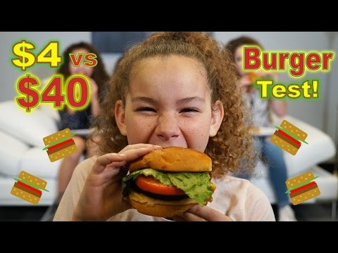 $4 Burger vs $40 Burger!  (Haschak Sisters)