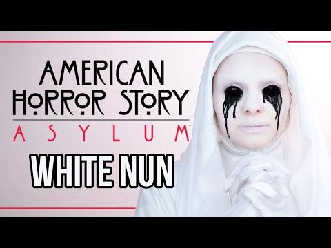 AMERICAN HORROR STORY - ASYLUM - White Nun Makeup Tutorial - #AHSWeek