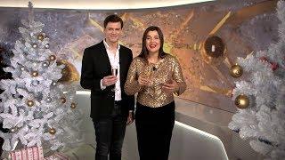 Ведущие ОНТ поздравляют с Новым годом: Денис Паршин и Вера Полякова