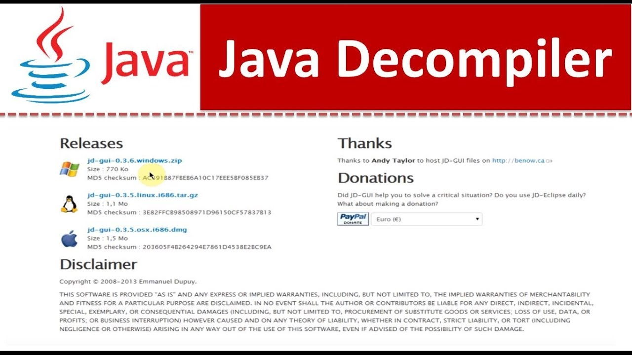 Free Java Decompiler