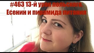 #463 13-й урок польского. Есенин и пирамида питания