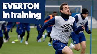 SPRINTS + PRESSING | EVERTON TRAINING PRE-MAN UNITED