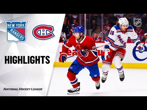 NHL Highlights | Rangers @ Canadiens 11/23/19