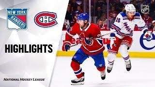 NHL Highlights | Rangers @ Canadiens 11/23/19