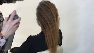 видео Пучок из волос средней длины. Как сделать красивый пучок с носком