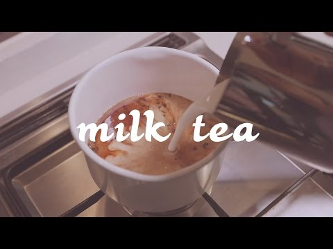 잉글리시 블랙퍼스트 밀크티 English Breakfast tea with milk (milk tea)