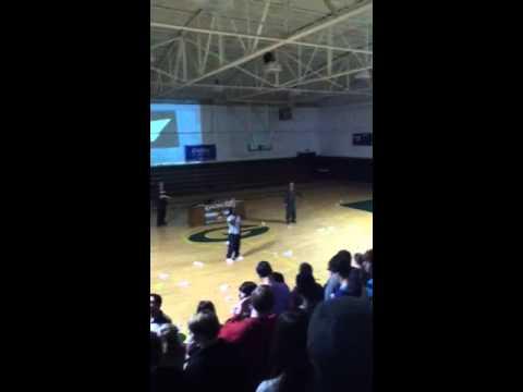 Turk performing at Gordo High School