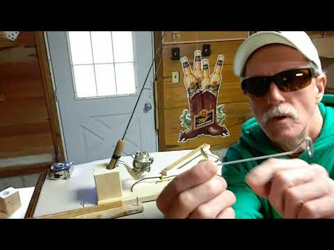 How To Make Automatic Hook Setter / Ice Fishing