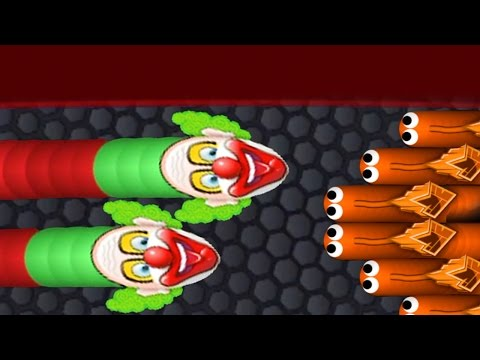 SCARY TRAPS & TROLLS - Slither.io New Scary Clown Skin - Top Player Gameplay (Funny Moments) - 동영상
