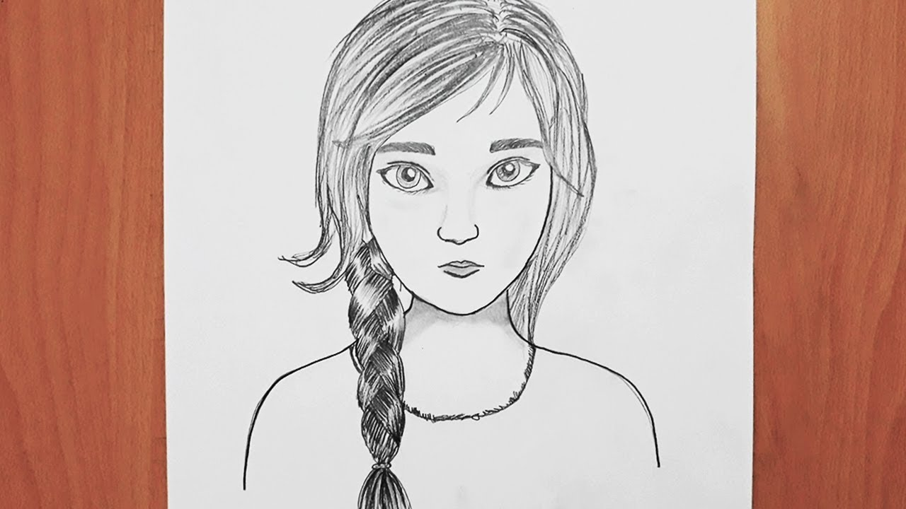 Güzel Kız Yüzü Nasıl Çizilir , How to Draw a Girl / Adım Adım Çizim