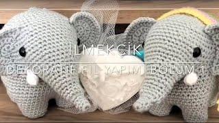 Amigurumi Dekoratif Fil Yapımı Anlatımı (hortum) | Bölüm 1