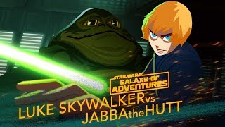 Luke vs. Jabba - Sail Barge Escape | Star Wars Galaxy of Adven…