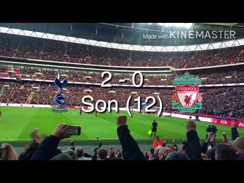 Tottenham Vs Liverpool 4-1 at Wembley Stadium, a great day out