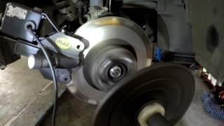 Subary Outback проточка тормозных дисков