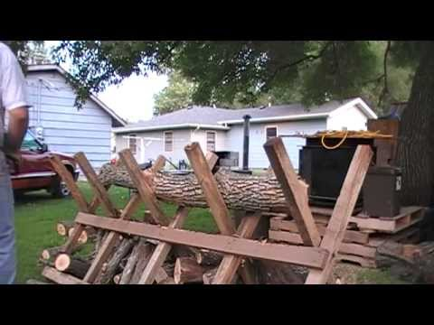 how to use a sawbuck for cutting firewood