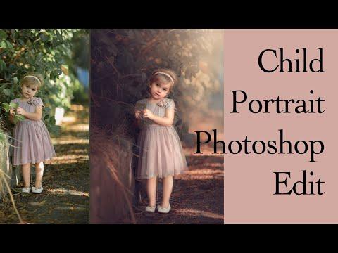 Complete CHILD EDIT   Photoshop EDIT   Quick Portrait Edit