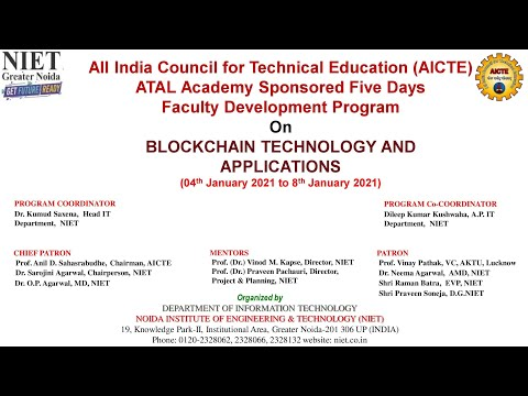 AICTE Atal Academy sponsored FDP on Blockchain Technology & Applications