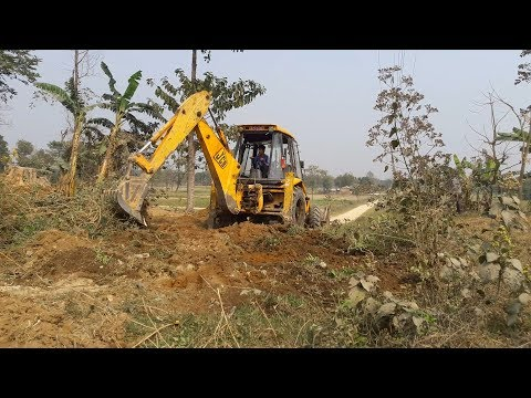 JCB Working For Road Construction - JCB Working on Mud - JCB VIDEO - 동영상