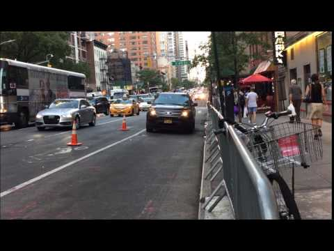 UNITED STATES SECRET SERVICE SUV PATROLLING IN MANHATTAN DURING UNITED NATIONS GENERAL ASSEMBLY.