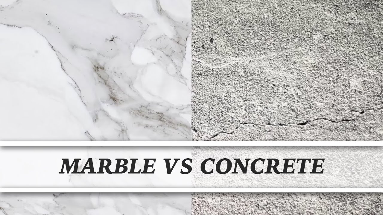 Marble Vs Concrete | Countertop Comparison