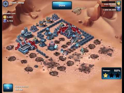 Star Wars  Commander - Level 6 Rebel Attacking Force versus Level 5 Base