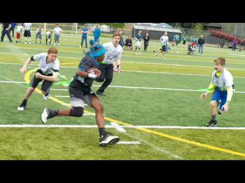 Lake Stevens U14 Flag Football 1st half #nflflag