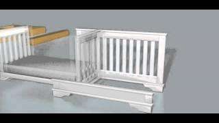 Boori Convertible PLUS Crib Animation