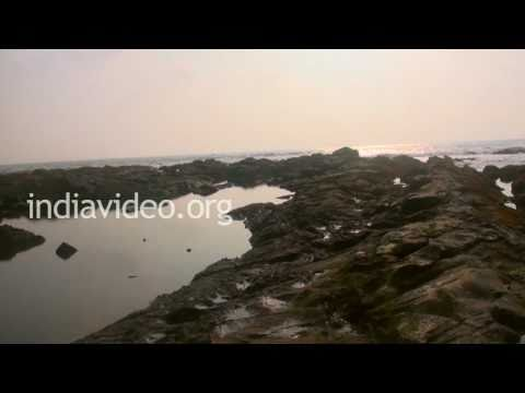 Anjuna, a rocky beach in Goa