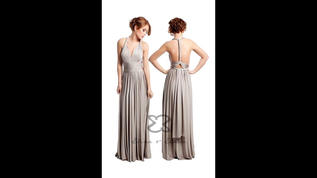 Eliza U0026 Ethan Multi-Wrap Dress Tutorial - Style 5 - YouTube