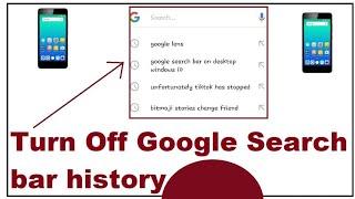 google search bar history disable 2019