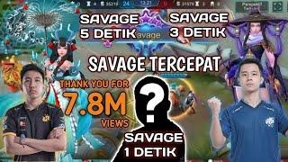 REKOR SAVAGE 1 Detik.!! Inilah  8 SAVAGE Tercepat Sepanjang Sejarah Mobile Legends